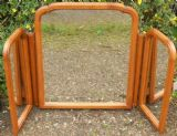 Triple Framed Cherry Wood Dressing Mirror by Younger